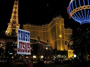 Las Vegas Strip on a Saturday night.