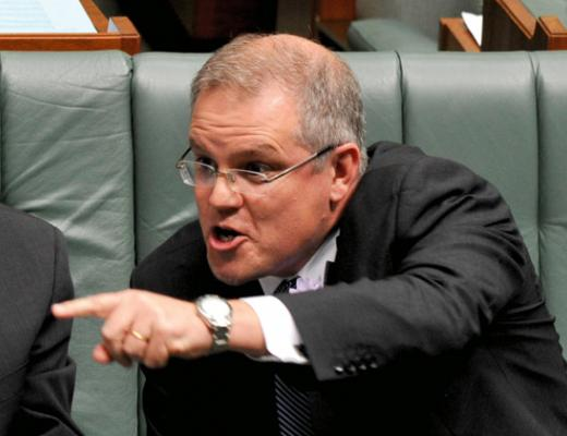 Angry Scott Morrison