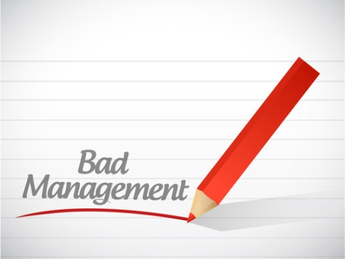bad management message illustration design