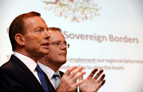 TONY ABBOTT ASYLUM SEEKERS PRESSER