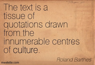 Roland Barthes Death of the Author
