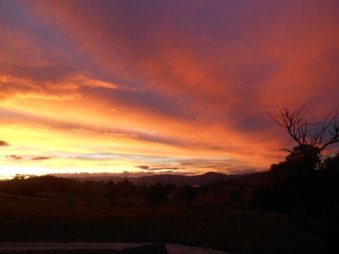 Evening sky. Jindabyne