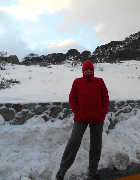 Very cold blogger. Charlotte Pass