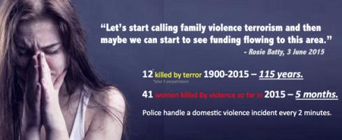 Domestic Violence is terrorism