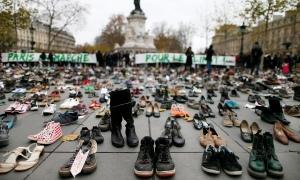 Empty shoes in Paris. 2015