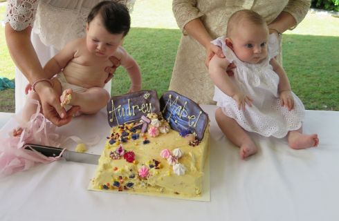 Mabel Jane & Audrey Mae on their naming day
