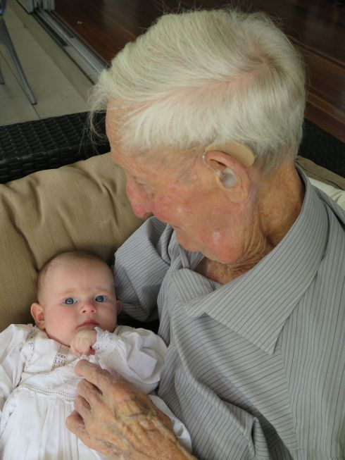 Mabel Jane with her Great Step Grandfather