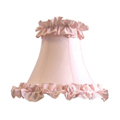 Pink frilled lampshade