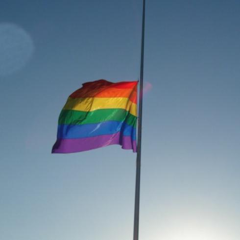 Flag. Half Mast.